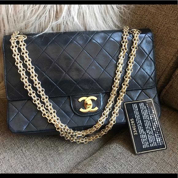 012cb944f63c CHANEL Handbags - Authentic CHANEL double flap double strap